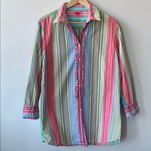 La senza Oversized Colourful button down shirt